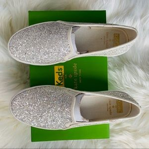 Kate Spade x Keds Glitter Sneakers Size 8